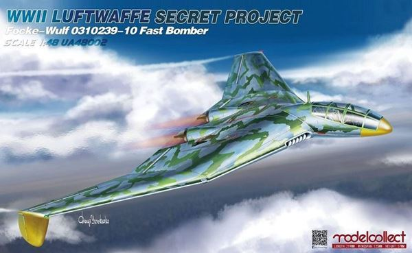 Picture of WWII LUFTWAFFE Secret Project Focke-Wulf 0310239-10 Fast Bomber